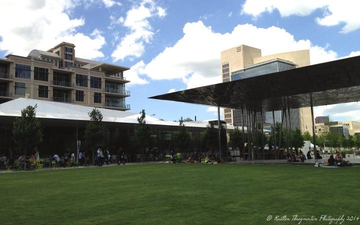 The pavilion in Dallas' Klyde Warren Park.
