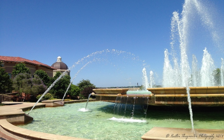The beautiful fountains at The Harbor in Rockwall.