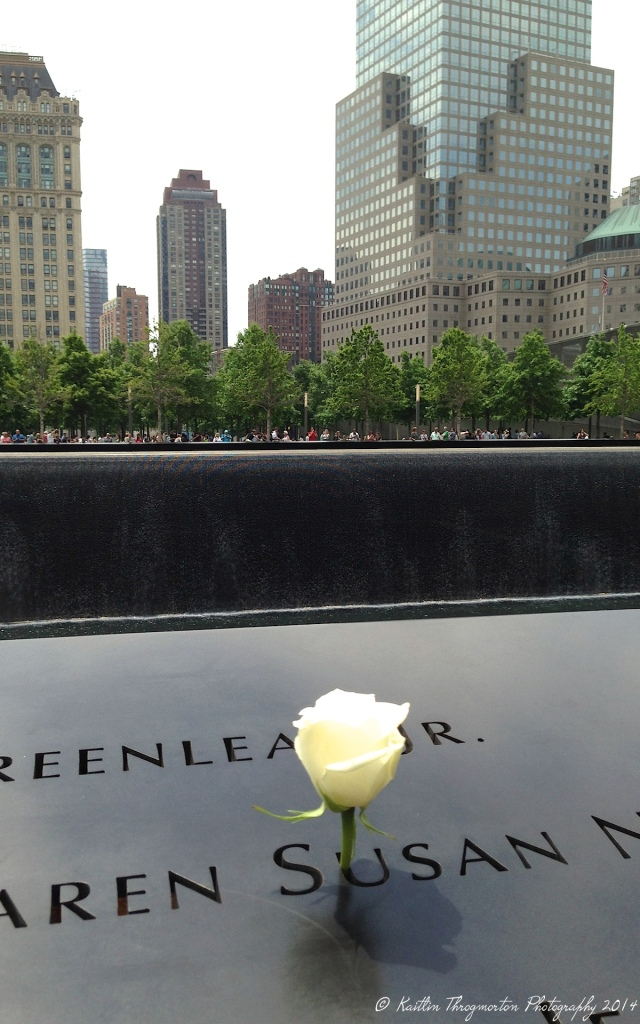 A rose I found place in one of the names lining the fountains at the 9/11 Memorial. It was poignant, and demonstrative of the blended beauty and sadness there.