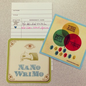 NaNo write-in goodies!