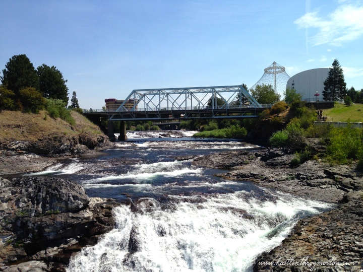 Another side of Spokane Falls.