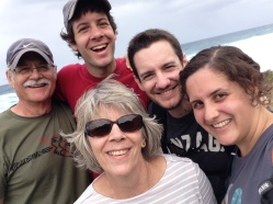 Of course we had to take a family selfie. This one's from Kaena Point. All photos © 2015 Kaitlin Throgmorton.