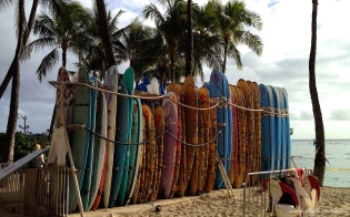 Surboards Kuhio Beach Honolulu Hawaii