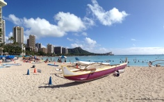 Outrigger Canoe Waikiki Beach Honolulu Hawaii
