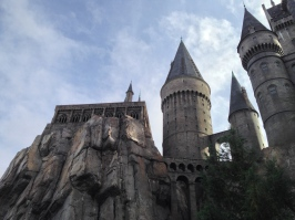 The Hogwarts castle up close.