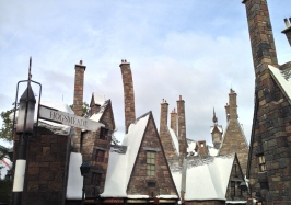 Entering Hogsmeade for the first time.