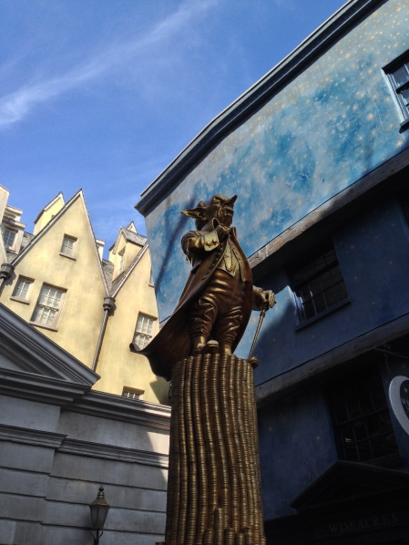 Outside Gringotts