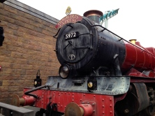 The Hogwarts Express Arriving in Hogsmeade