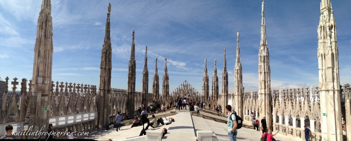 Milan, Italy Duomo di Milano Terrace Panorama of the terrace.