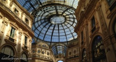 After seeing the Duomo, we went next door to one of the world's oldest shopping malls, the Galleria Vittorio Emanuele II.