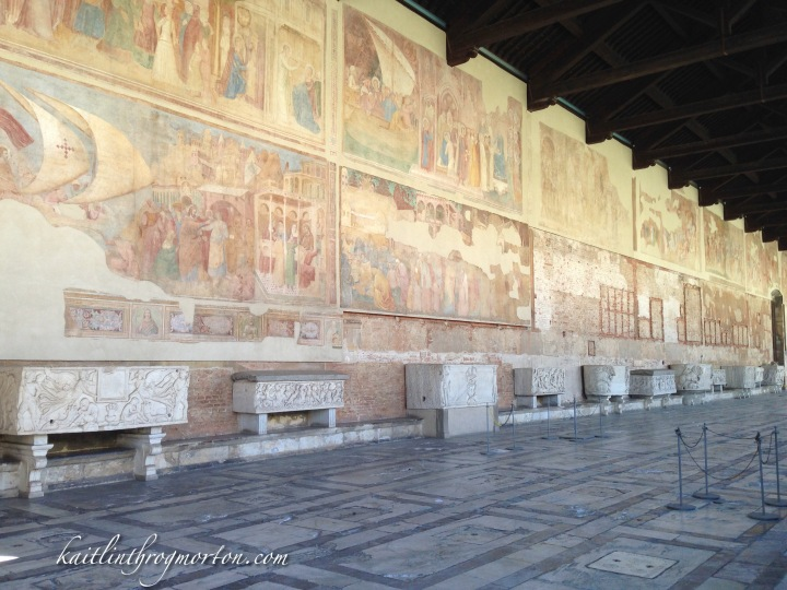 Inside the Camposanto.