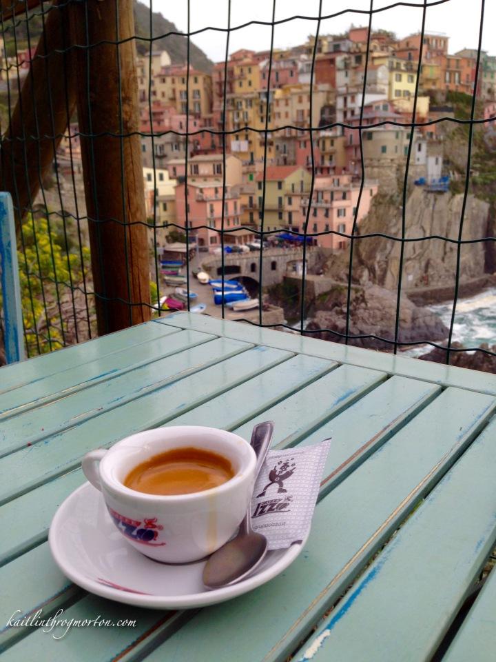An Espresso in Manarola