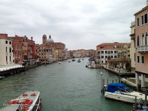 On the Scalzi Bridge overlooking the Grand Canal and the Cannaregio sestiere on our first morning.