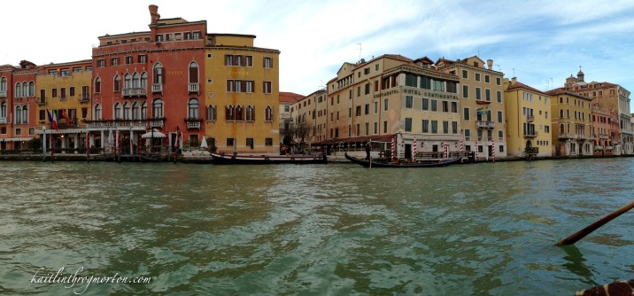 We enjoyed the city and the Grand Canal at sunset from a gondola on our first evening in Venice.