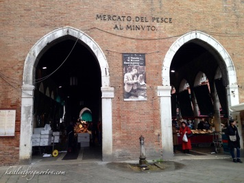 Visiting Venice's largest fish market, the Mercato del Pesce.