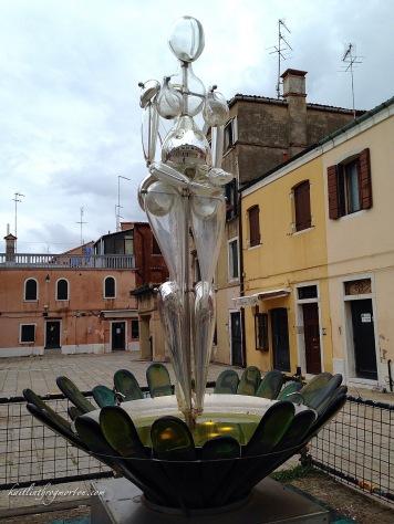 A glass sculpture in Murano.