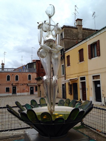 A glass sculpture in Murano.