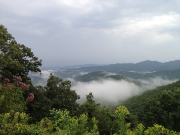 Misty fog in the mountains.