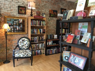 All Booked Up on Salem Street, a cozy little bookshop.