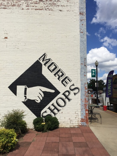 More shops this way in downtown Apex.