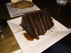 Salted Caramel Chocolate Cake...a massive and rich portion.