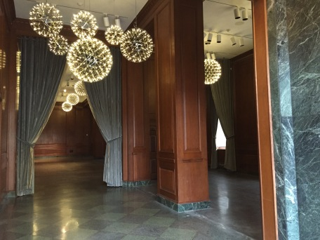 The gorgeous ballroom at the hotel.