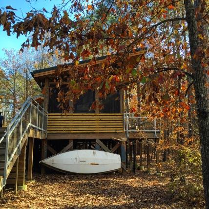 The Boathouse at Bond Lake.