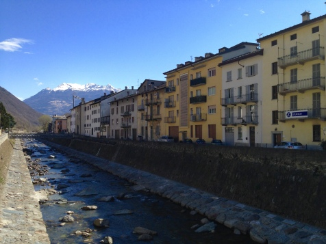 The quaint little town of Tirano, where the Bernina Express begins.