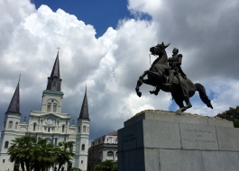 The Cathedral from Jackson Square.