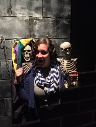 #BuriedAlivewithPoe in the Cask of Amontillado exhibit.
