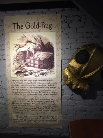 "A small feature at the museum on ""The Gold Bug"" - my favorite!"